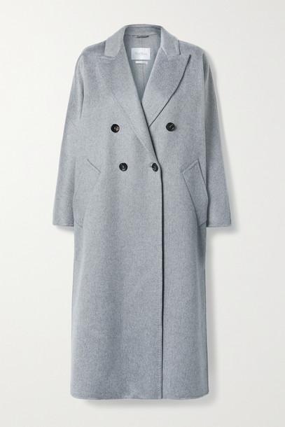 MAX MARA - Selina Double-breasted Cashmere Coat - Gray