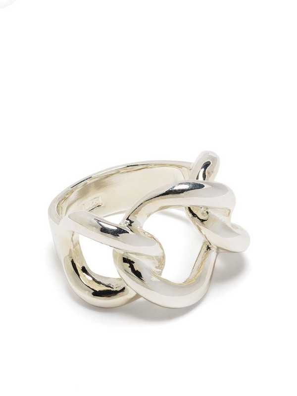 Isabel Lennse chainlink ring in silver