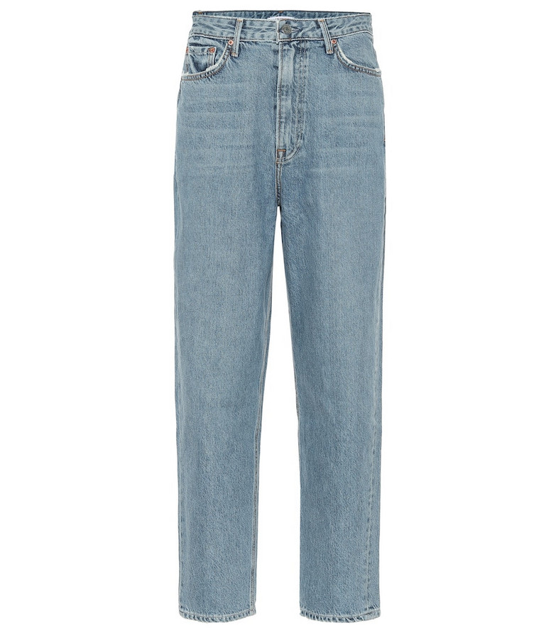 Grlfrnd Kinsey high-rise straight jeans in blue