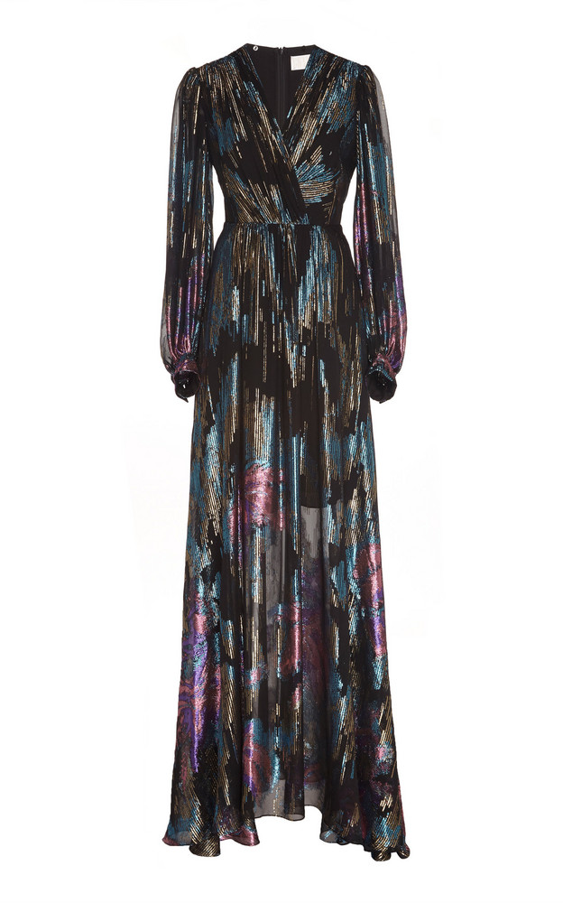 Peter Pilotto Fireworks Fil Coupe Gown Size: 6 in multi
