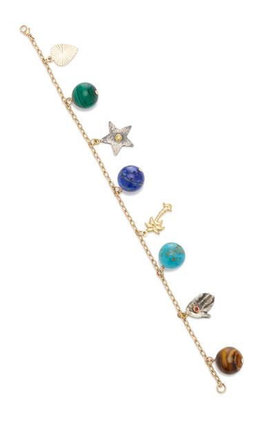 Haute Victoire Multi-Gemstone 8-Charm Bracelet