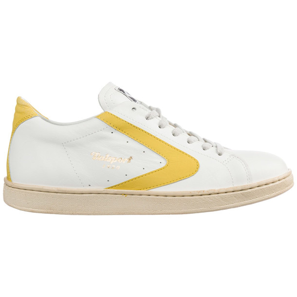 Valsport Men's Shoes Leather Trainers Sneakers Tournament in bianco