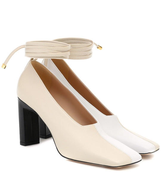 Wandler Isa leather pumps in white