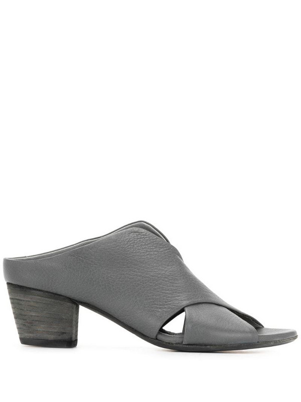 Officine Creative Adele 55mm leather mules in grey