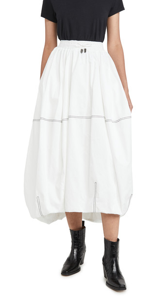 Aje Paperbark Cocoon Skirt in white