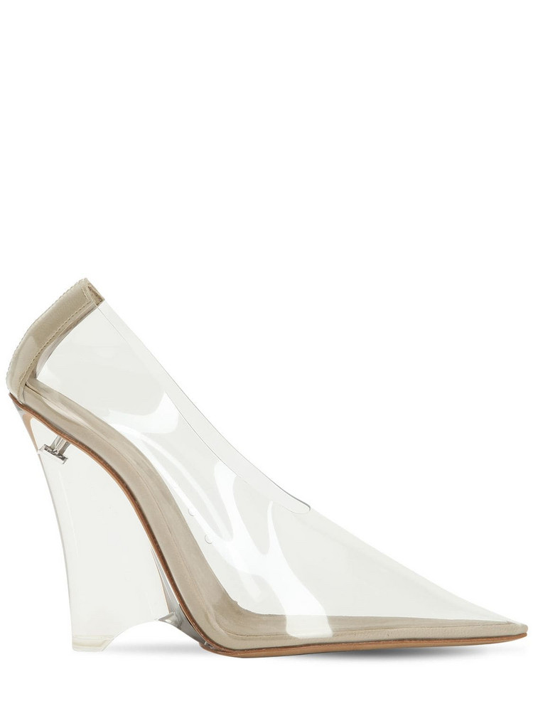 YEEZY 110mm Pvc Wedge Pumps in transparent