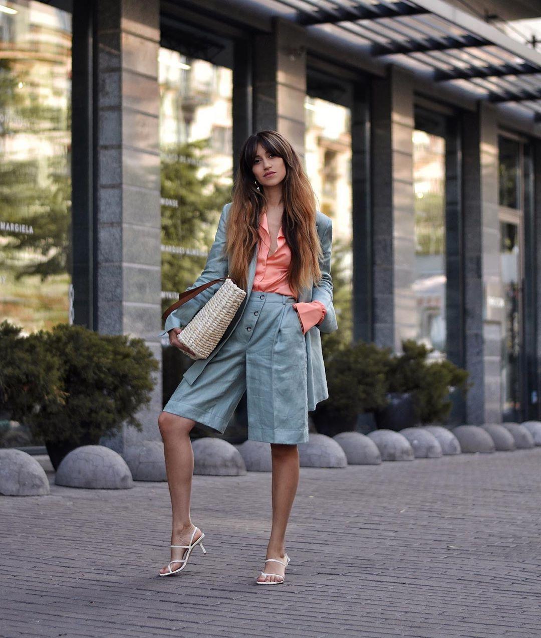 shoes white sandals zara shorts blazer woven bag shirt