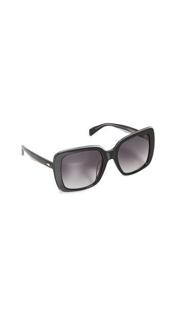 Rag & Bone Oversized Square Sunglasses in black / grey