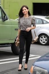 top,pants,jeans,black,blouse,jenna dewan,celebrity,streetstyle,fall outfits