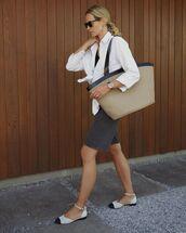 bag,shoulder bag,ballet flats,black shorts,denim shorts,white shirt