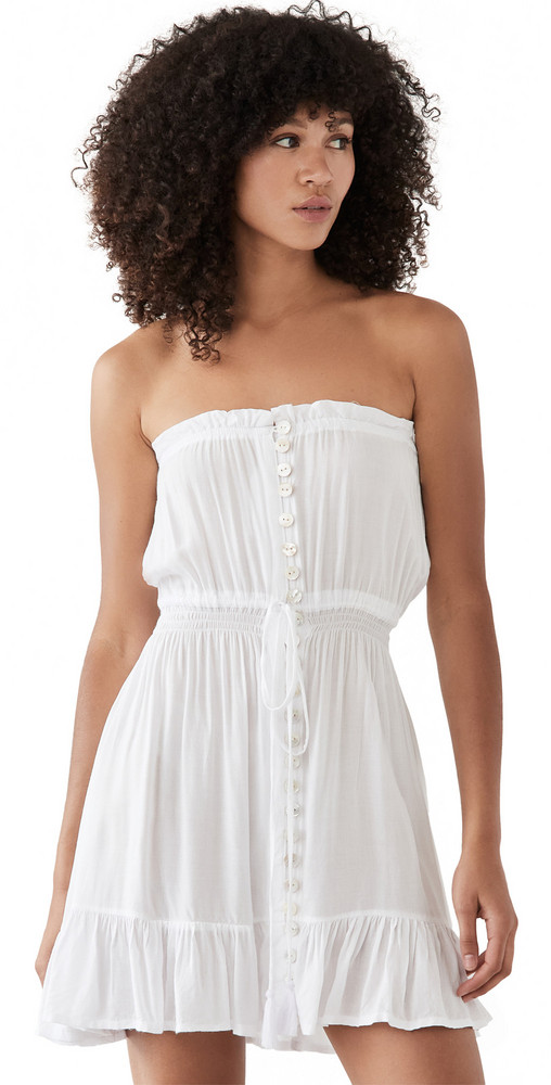 TIARE HAWAII Ryden Mini Dress in white