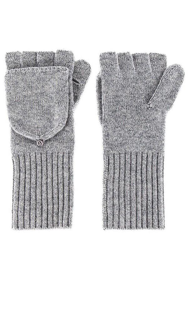 White + Warren White + Warren Pop Top Glove in Grey