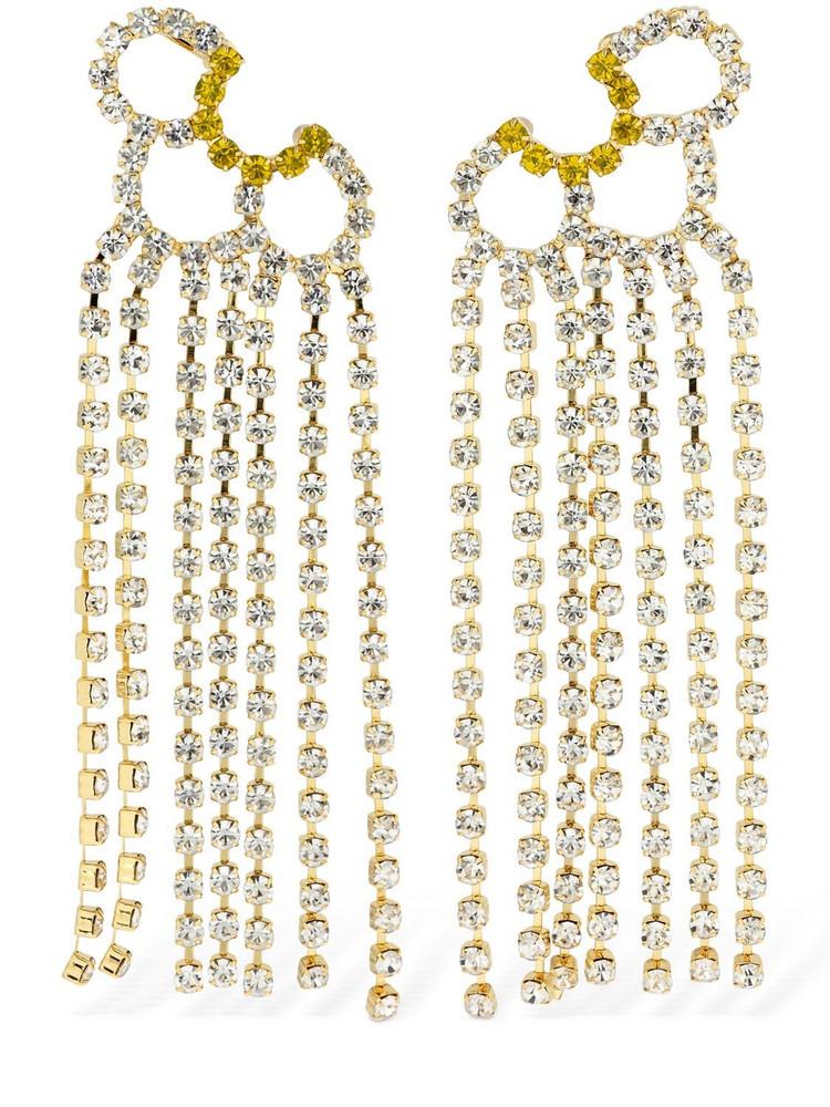 AREA Petal Crystal Chandelier Ear Jackets in multi