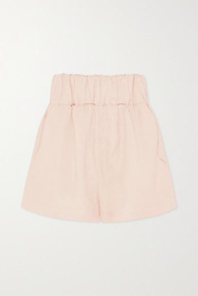 BONDI BORN - Net Sustain Universal Linen-blend Shorts - Blush