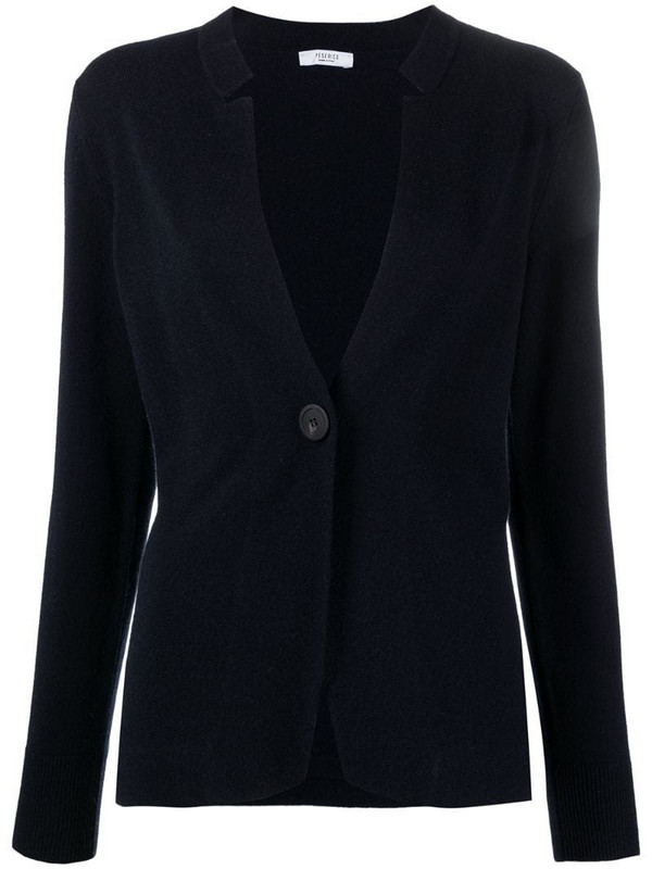 Peserico V-neck button-fastening cardigan in blue