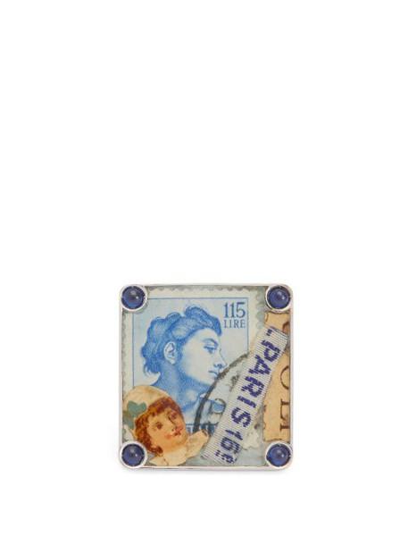 Francesca Villa - Paper Memories Vintage Stamp Sapphire Ring - Womens - Blue