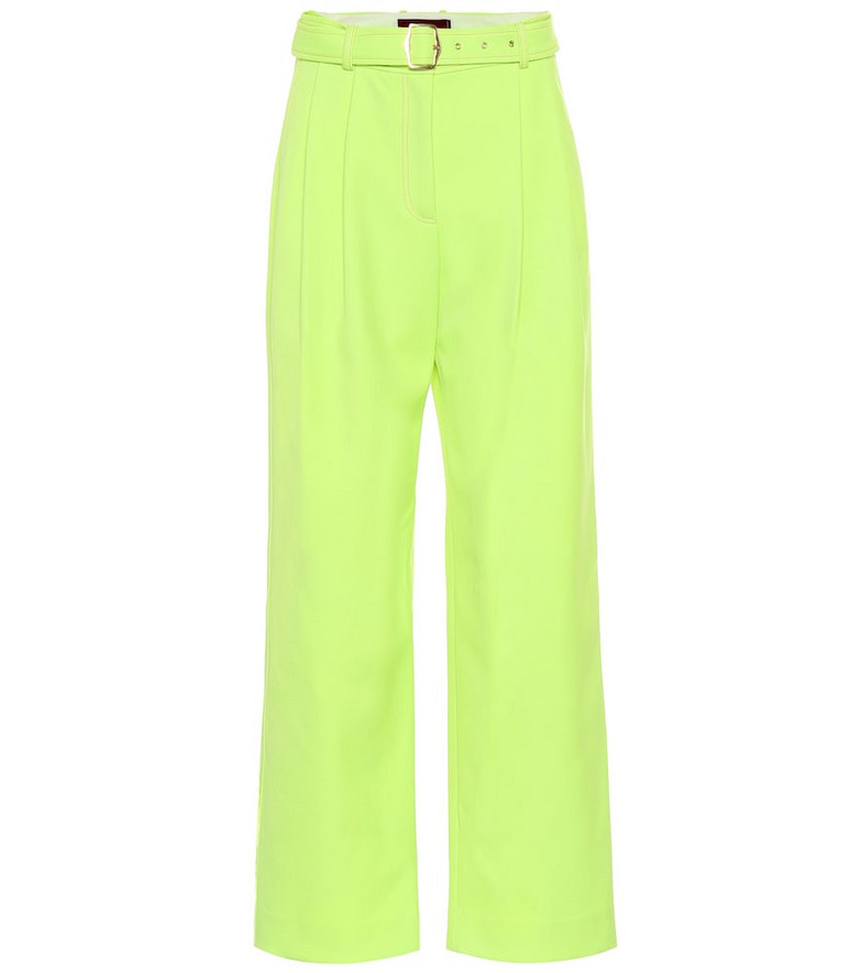 Sies Marjan Blanche wide-leg twill pants in yellow