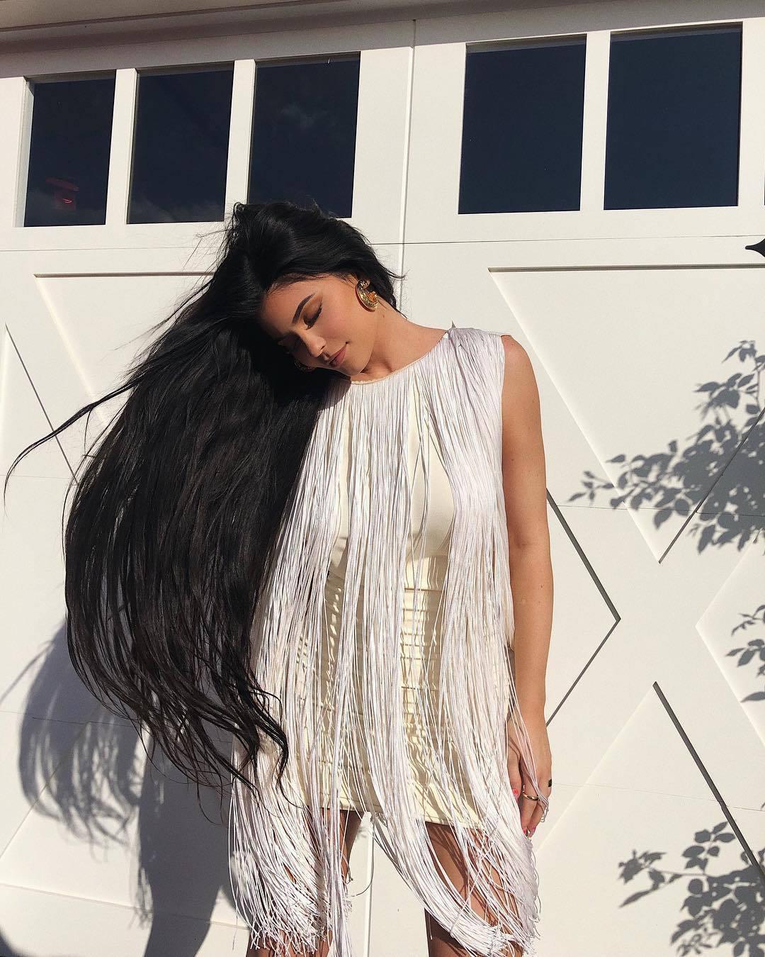 dress fringes fringed dress kylie jenner kardashians mini dress celebrity
