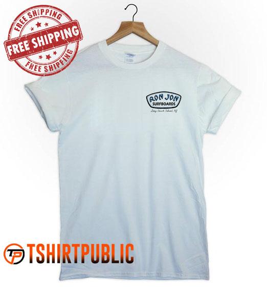 Ron Jon Surfboards Long Beach Island T Shirt Adult Free Shipping - Cheap Graphic Tees