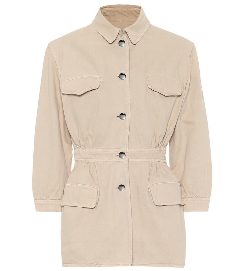 Prada Cotton-denim jacket in beige