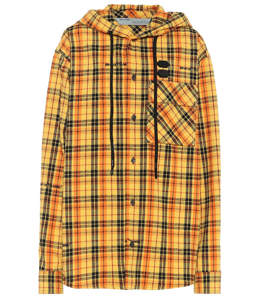 Off-White Checked cotton-blend jacket in yellow