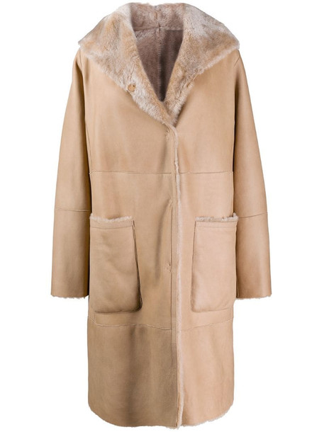 Manzoni 24 single-breasted coat in neutrals