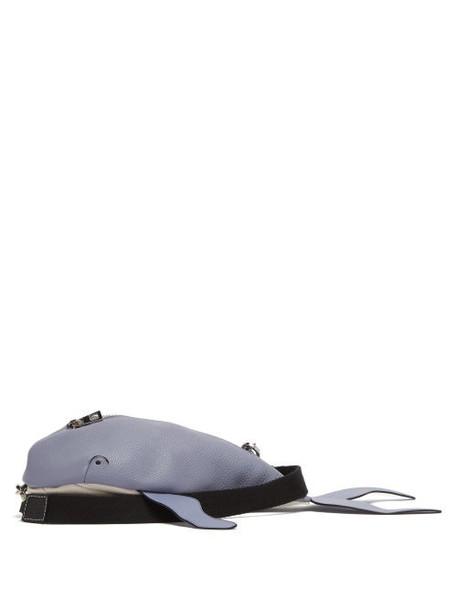 Loewe Paula's Ibiza - Whale Leather Cross-body Bag - Womens - Blue Multi