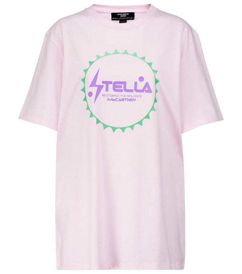 STELLA McCARTNEY x Tom Tosseyn logo printed T-shirt in pink