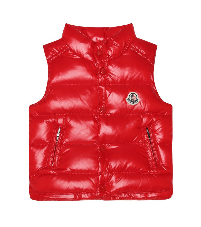 Moncler Enfant Baby Bernard quilted down vest in red