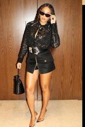 shorts,beyonce,black,instagram,celebrity,pumps,top