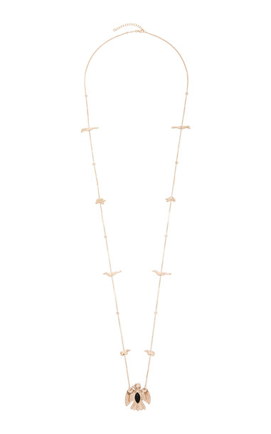 Jacquie Aiche 14K Rose Gold And Diamond Necklace