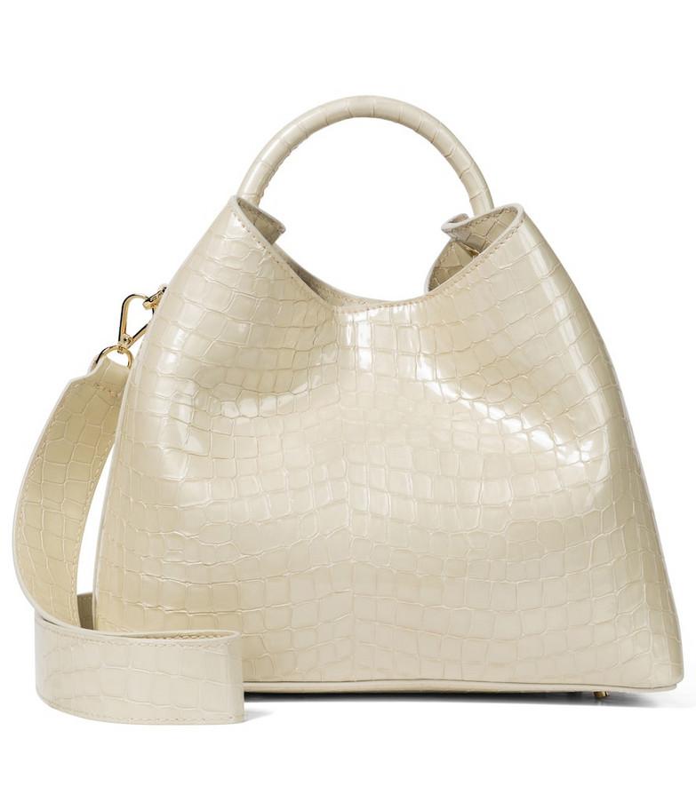 Elleme Raisin leather shoulder bag in white
