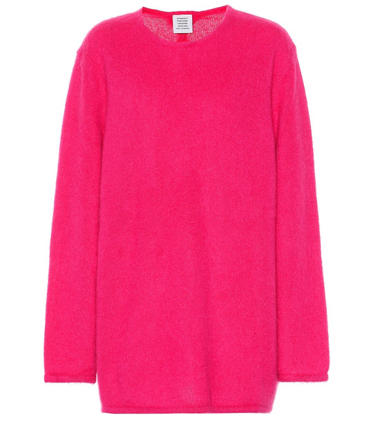 Vetements Mohair blend sweater in pink