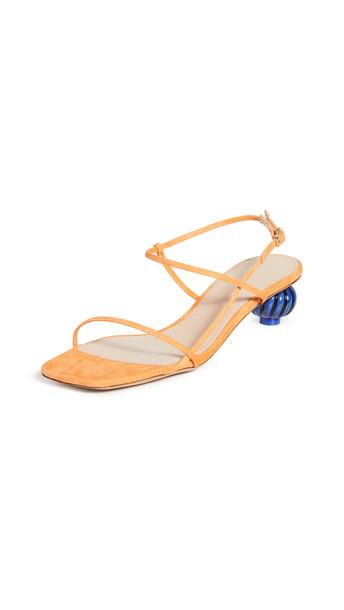 Jacquemus Manosque Suede Sandals in orange