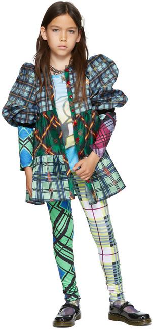 Chopova Lowena SSENSE Exclusive Kids Multicolor Check Print Jersey Leggings in multi