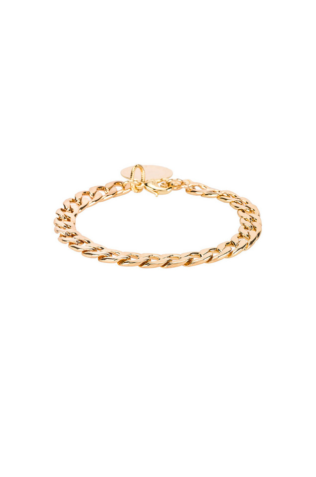 Natalie B Jewelry D'Or Chain Bracelet in gold / metallic