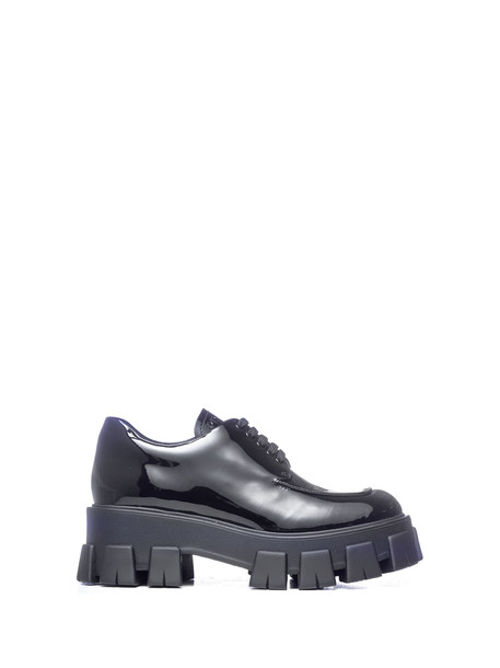 Prada Prada Platform Derby Shoes in nero