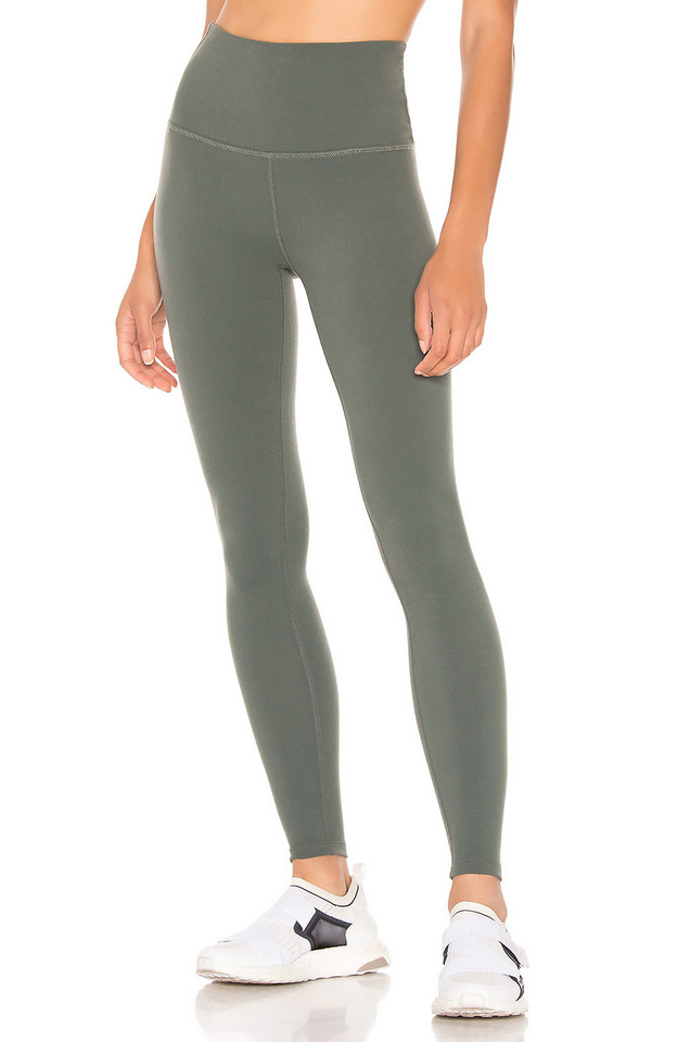 Beyond Yoga Caught In The Midi High Waisted Legging in green