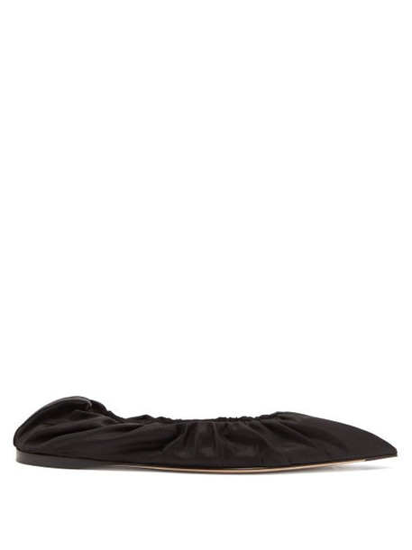 Acne Studios - Babette Gathered Flats - Womens - Black