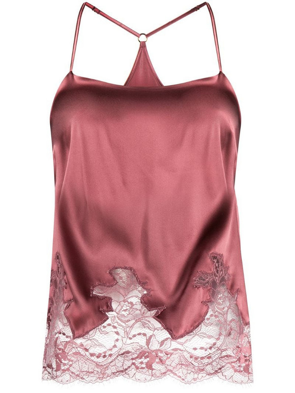 Fleur Of England Bisou lace panel camisole in pink