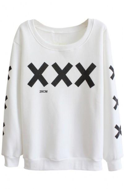 sweater white white sweater xxx