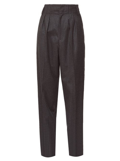 Isabel Marant - Magali Pinstripe Trousers - Womens - Grey