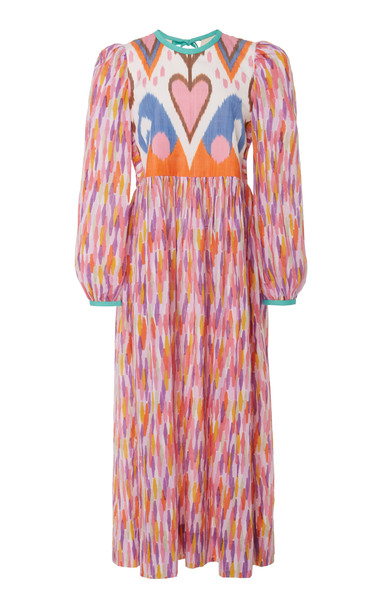 Alix of Bohemia Tallulah Printed Cotton And Silk-Blend Dress in multi