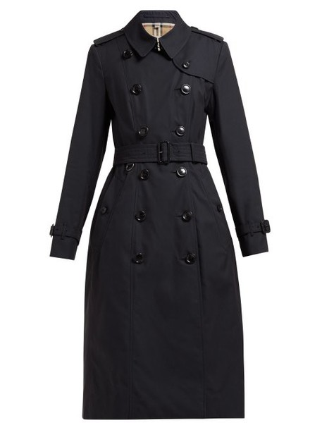 Burberry - Chelsea Belted Double Breasted Cotton Trench Coat - Womens - Navy