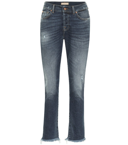 7 For All Mankind Asher mid-rise boyfriend jeans in blue