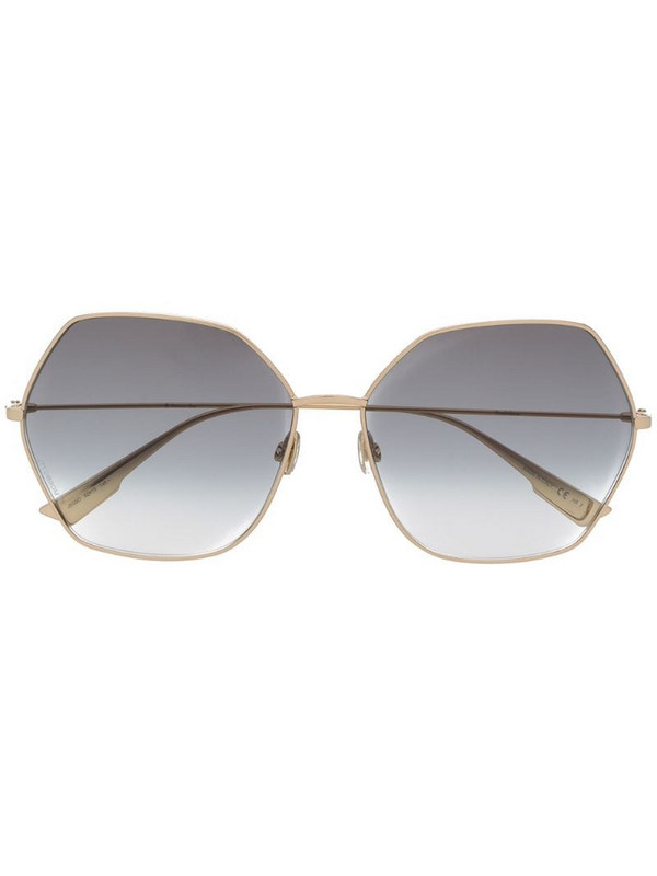 Dior Eyewear DiorStellaire8 angular-frame sunglasses in gold