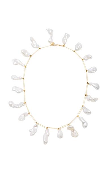 Mallary Marks Rare Attachment 18K Gold Pearl Necklace in white