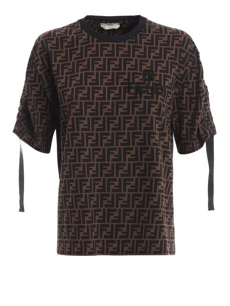 Fendi Tshirt Ff in black