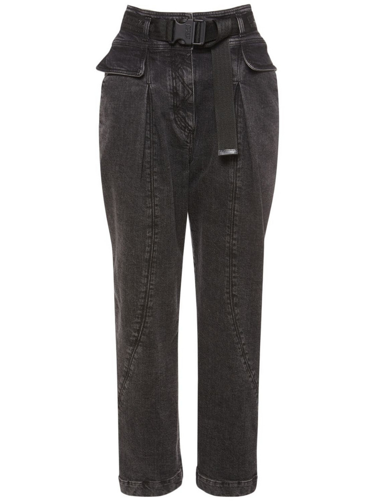 ALBERTA FERRETTI Stretch Cotton Denim  Jeans in grey