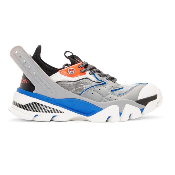 Calvin Klein 205W39NYC Grey & Blue Carla 10 Sneakers